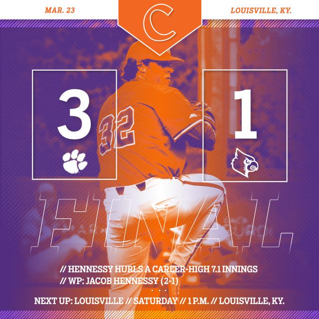 CU Downs No. 11 Louisville 3-1