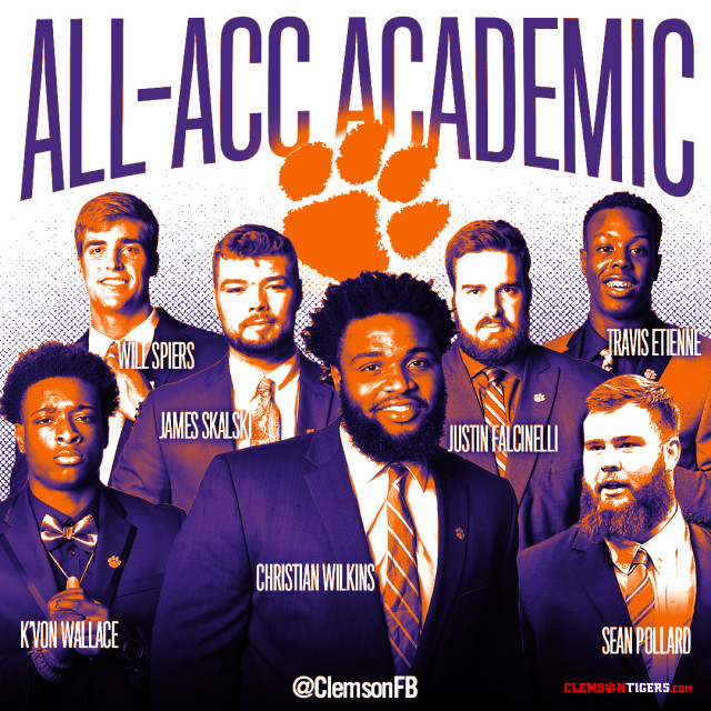 Wilkins Heads Eight Tigers Named Academic All-ACC