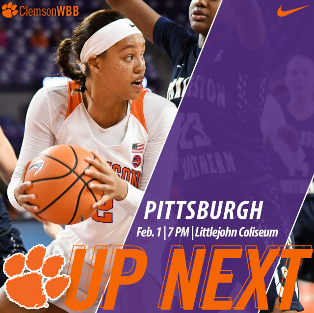 Clemson Hosts Pittsburgh Thursday at 7 PM