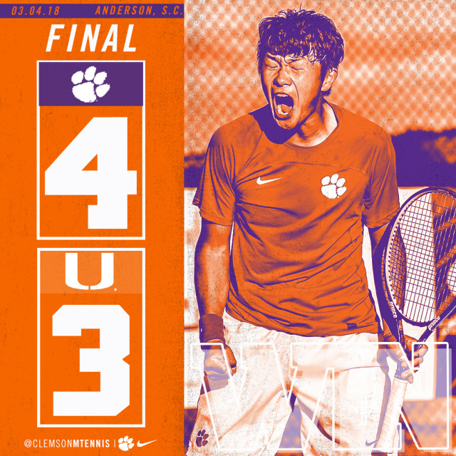 Clemson Edges Miami 4-3 on Sunday