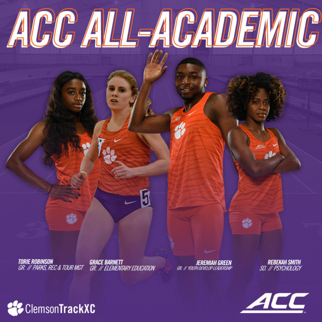 Four Tigers Garner All-ACC Academic Honors