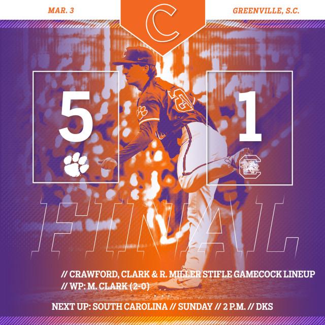 Tigers Defeat No. 23 USC 5-1
