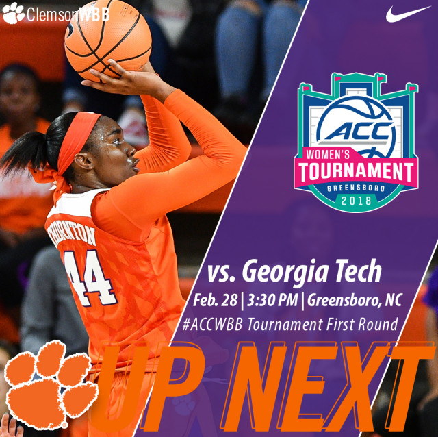 Tigers Face Georgia Tech in First Round of ACC Tournament Wednesday