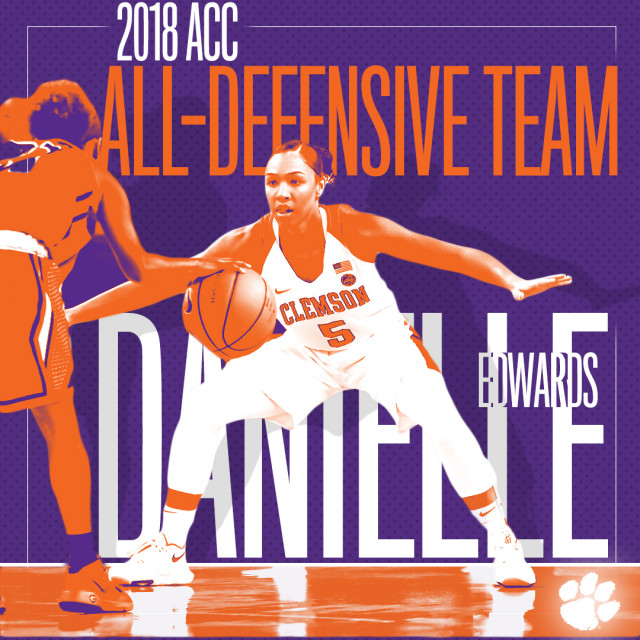 Edwards Named to 2018 ACC All-Defensive Team