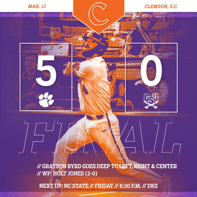 No. 2 Tigers Blank CSU 5-0