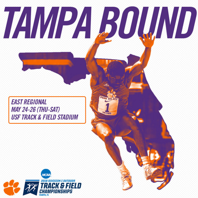 Tigers Total 24 Entries for NCAA East Regionals