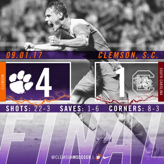 No. 5 Clemson Defeats South Carolina for Noonan's 300th Career Win