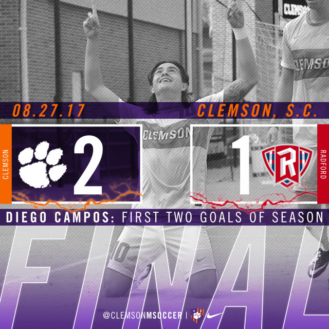 Campos Leads No. 5 Tigers Over Radford