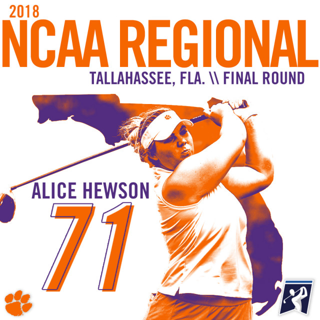 Clemson Misses NCAA National Tournament by One Shot