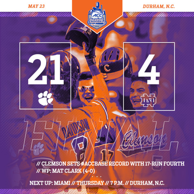 Tigers Trounce ND 21-4