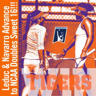 Leduc & Navarro Advance to NCAA Doubles Sweet 16