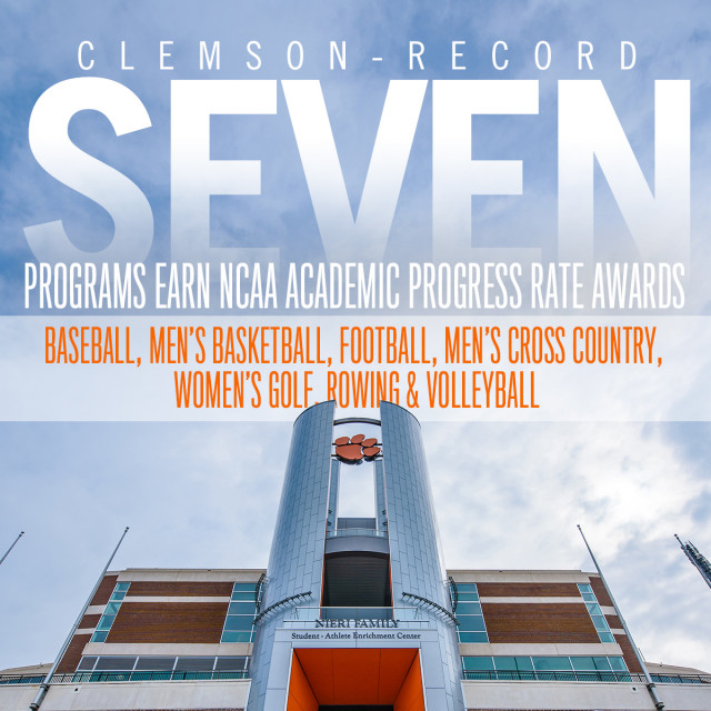 Clemson Earns School Record 7 NCAA APR Awards