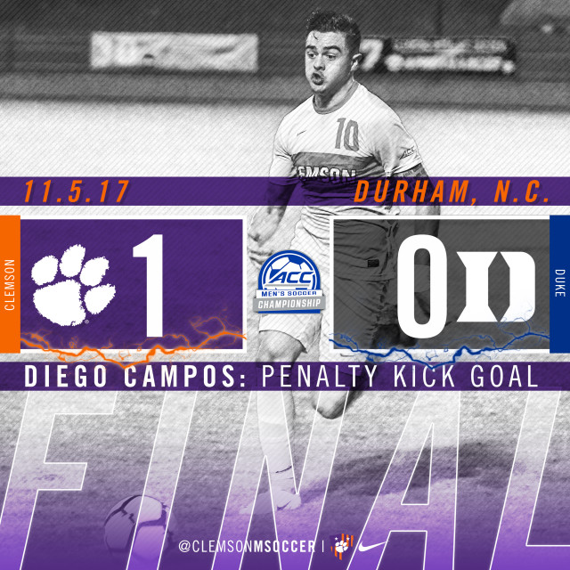 No. 9 Clemson Tops No. 11 Duke in ACC Quarterfinals