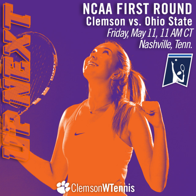 Clemson Faces Ohio State in NCAA First Round Friday in Nashville