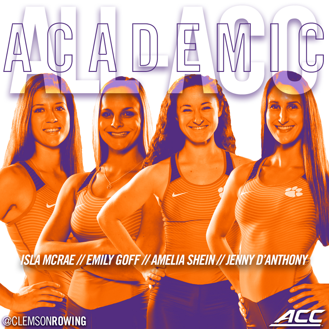 Four Rowers Earn All-ACC Academic Honors