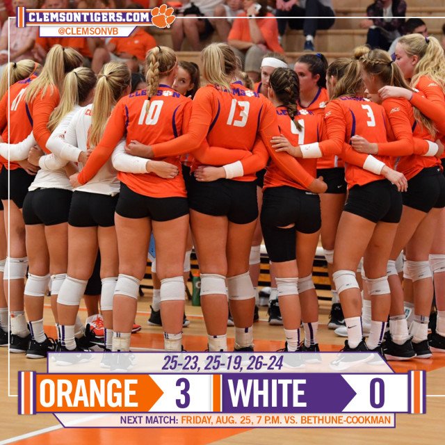 Orange Comes Out On Top In Scrimmage