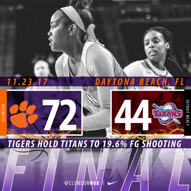 Balanced Attack & Defense Lead Tigers to 72-44 Win Over Detroit Mercy Thursday