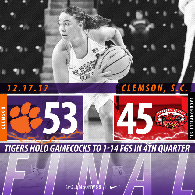 Balanced Offensive Attack & Solid Defense Lead Tigers Over Jacksonville State Sunday