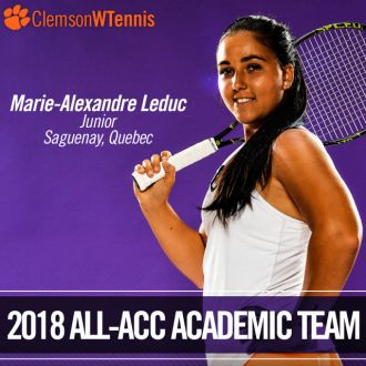 Leduc Named to 2018 All-ACC Academic Team
