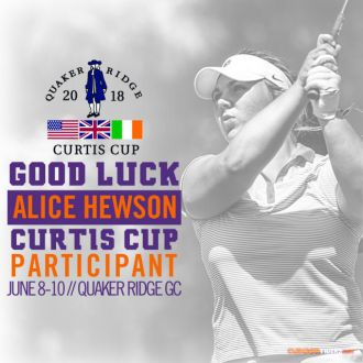 Hewson Opens Play at Curtis Cup Friday