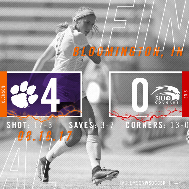 Speckmaier's Hat Trick Fuels Clemson's 4-0 Win Over SIUE, Radwanski Wins 200th Career Match