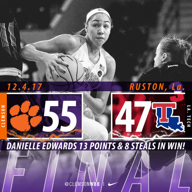 Tigers Win 55-47 Defensive Battle on the Road at La. Tech Monday