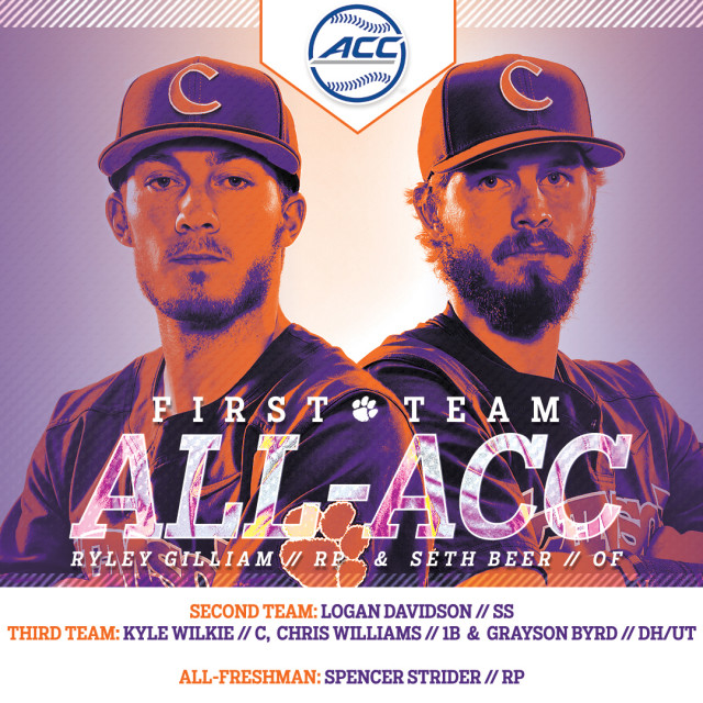 Six Tigers Earn All-ACC Honors