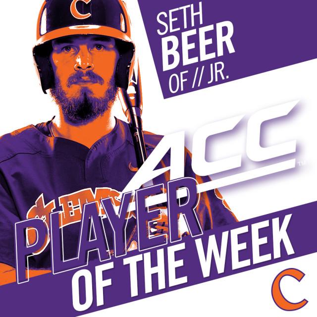 Beer Earns ACC Weekly Honor