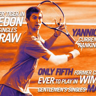 Yannick Maden Falls at Wimbledon, First Former Tiger to Play Singles at Wimbledon Since 1993