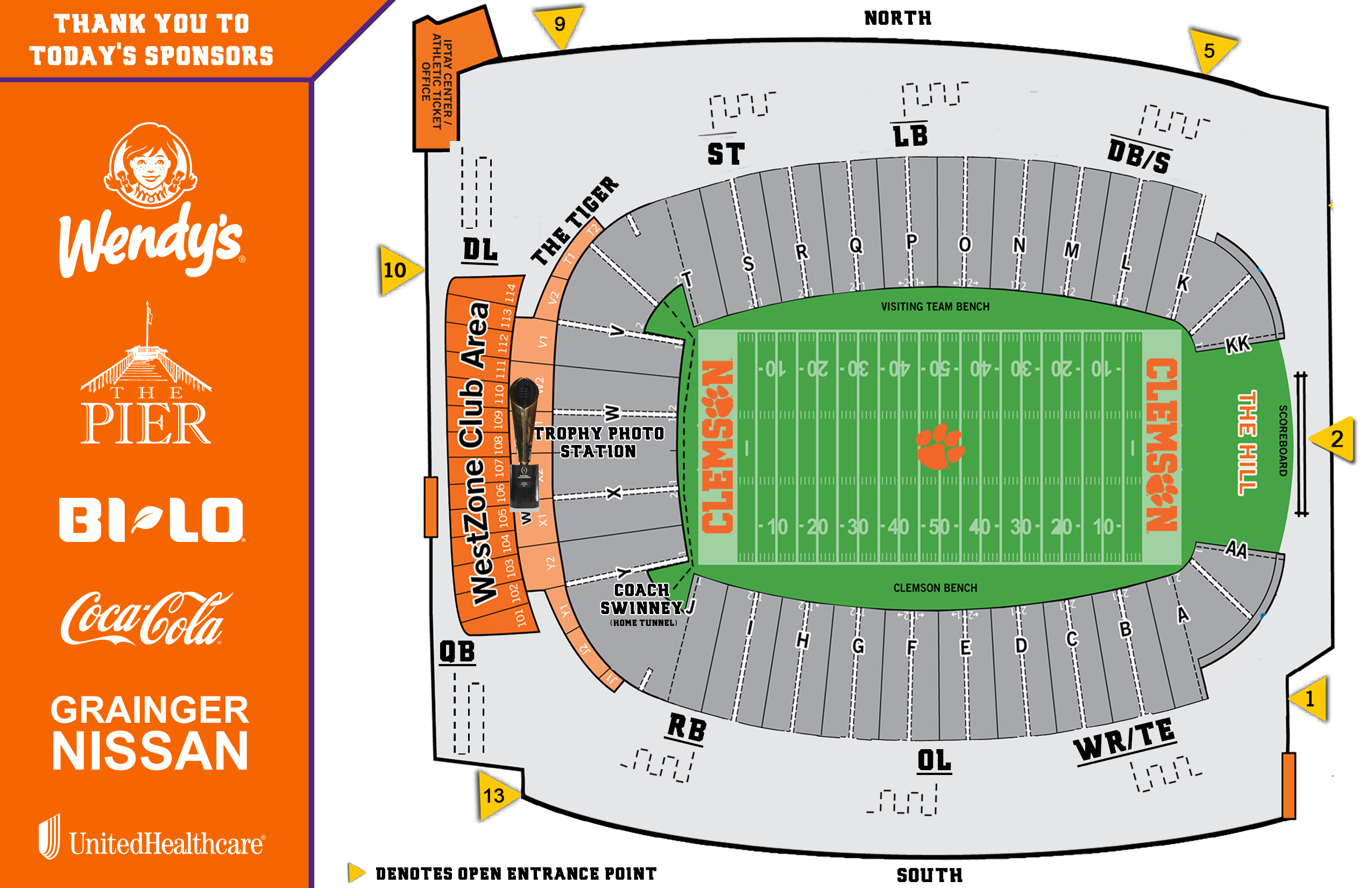 Clemson Stadium Map 2018 Football Fan Day – Clemson Tigers Official Athletics Site Clemson Stadium Map