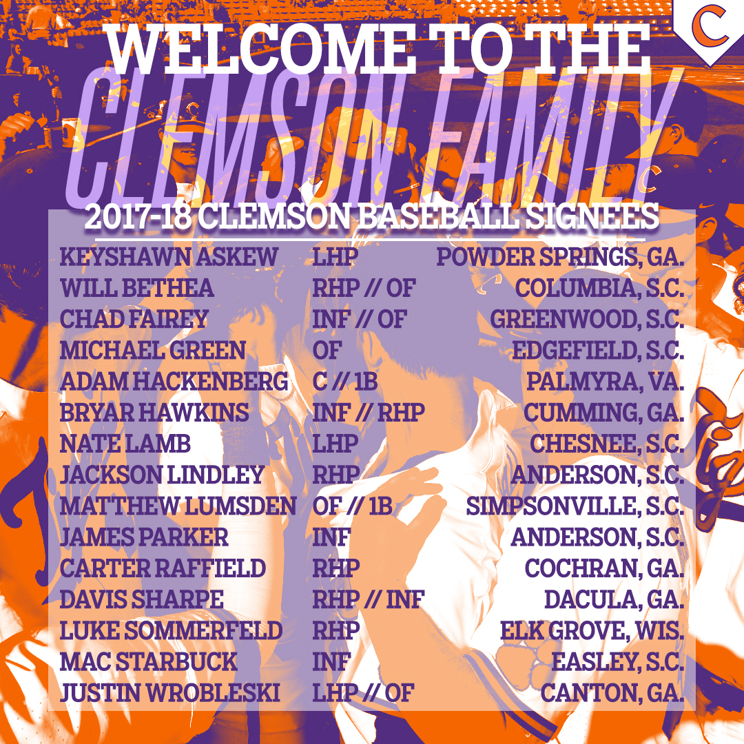 Tigers Announce Signing Class
