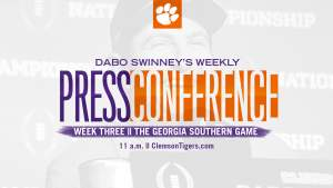 Dabo Swinney Press Conference || The Georgia Southern Game