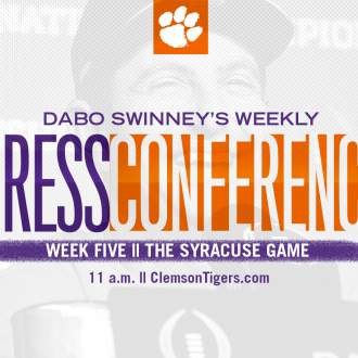 Dabo Swinney Press Conference || The Syracuse Game
