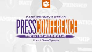 Dabo Swinney Press Conference || The Wake Forest Game