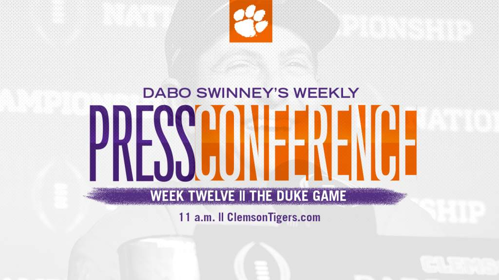 Dabo Swinney Press Conference || The Duke Game