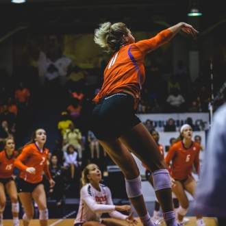 Bailey Ties Career-High in Five-Set Loss at GT Wednesday