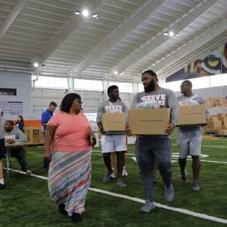 Clemson Football Hosts Annual Team Service Event