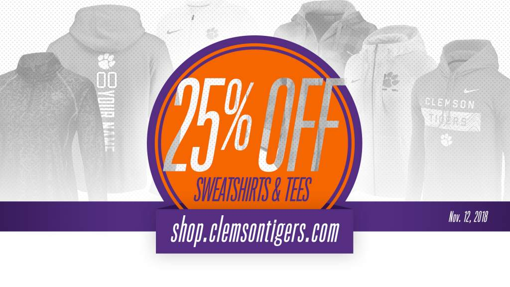 25% All Sweatshirts & Tees!