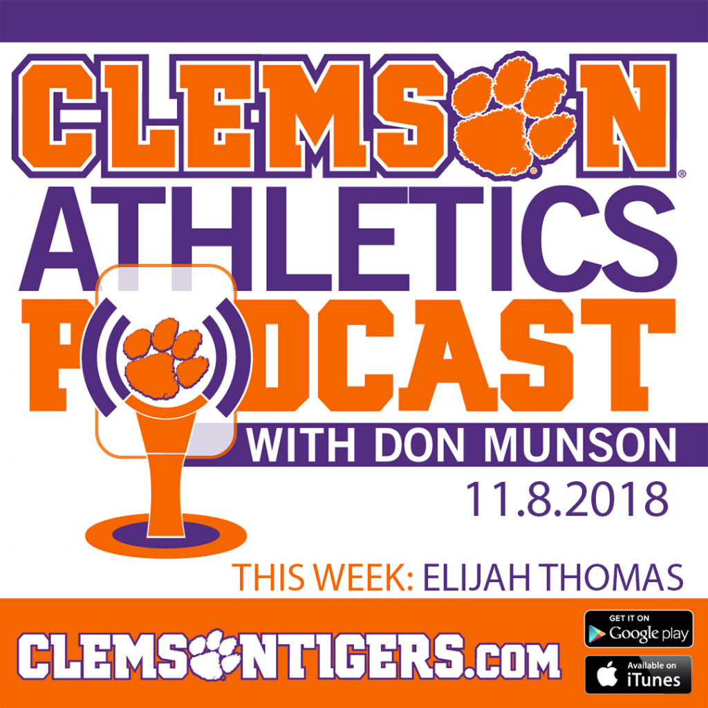 Clemson Athletics Podcast 11.8.2018 featuring men's basketball player Elijah Thomas