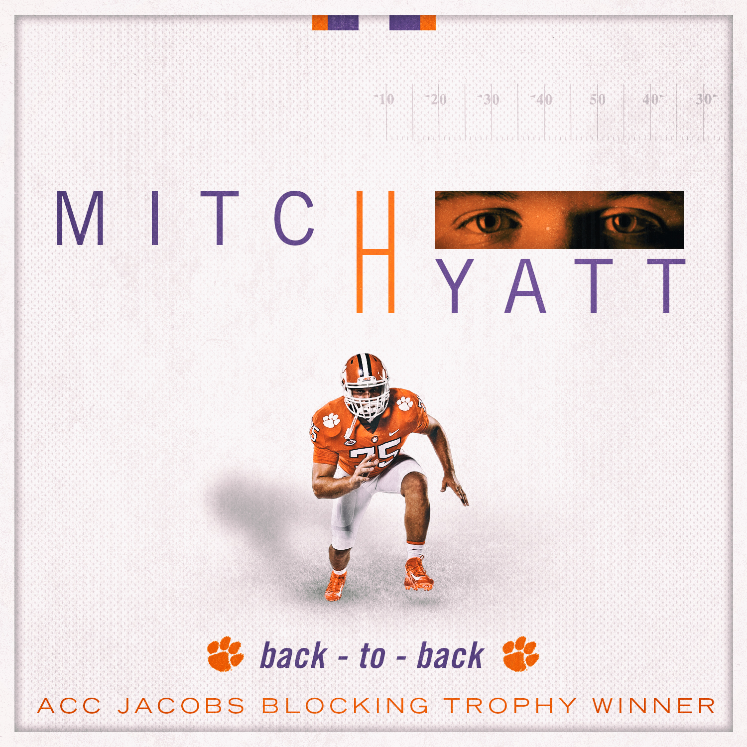 Hyatt Repeats As ACC Jacobs Blocking Trophy Winner
