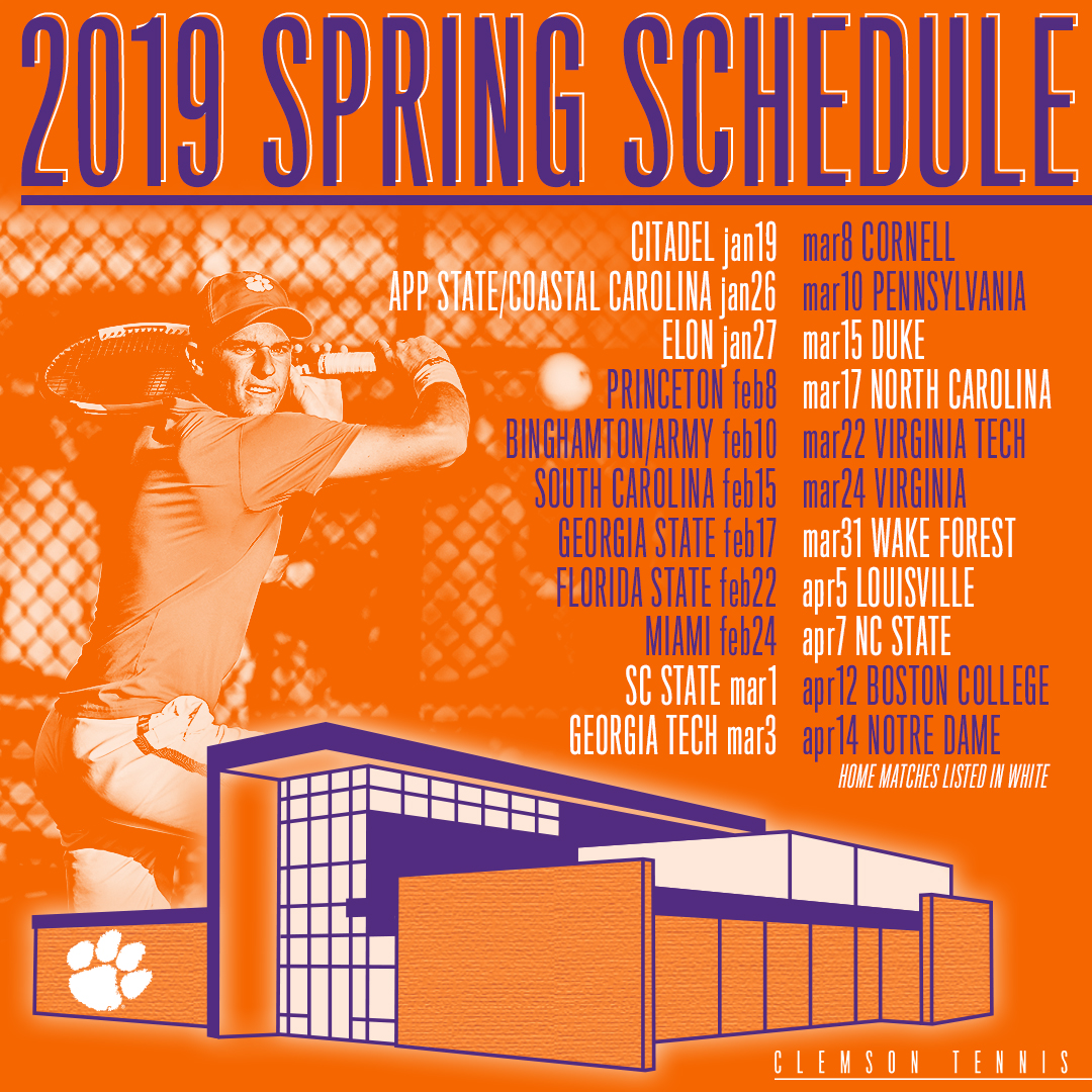 Men's Tennis Releases 2019 Schedule