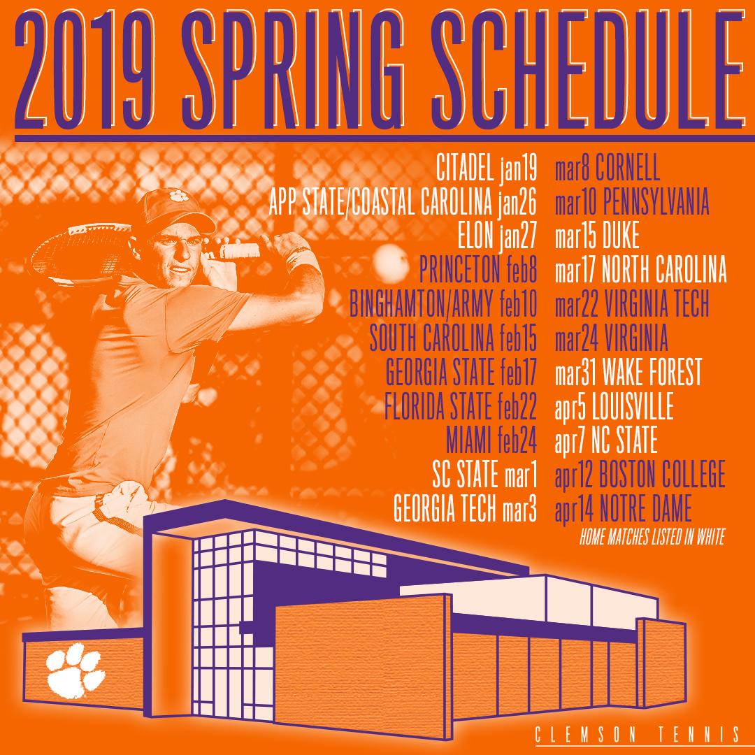Men's Tennis Releases 2019 Schedule