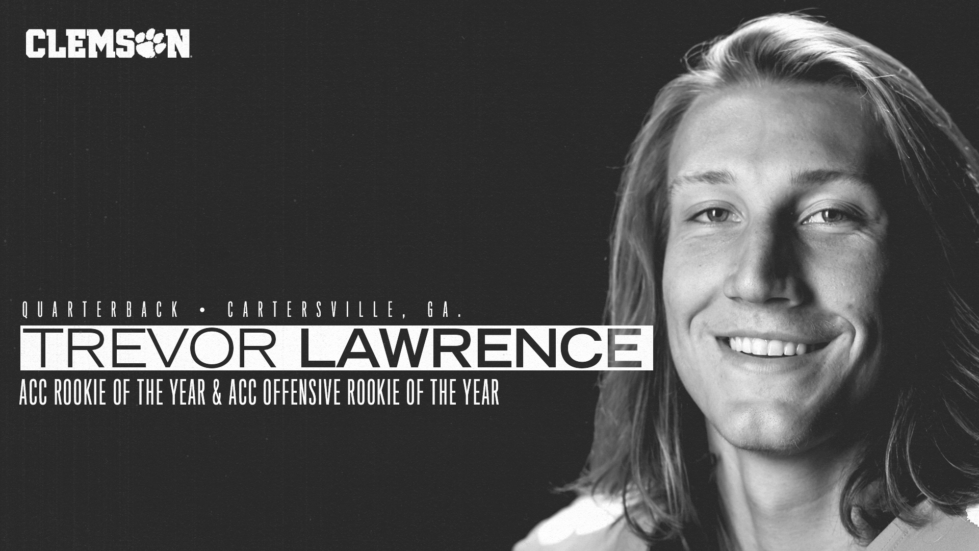 Trevor Lawrence Named ACC Rookie of the Year