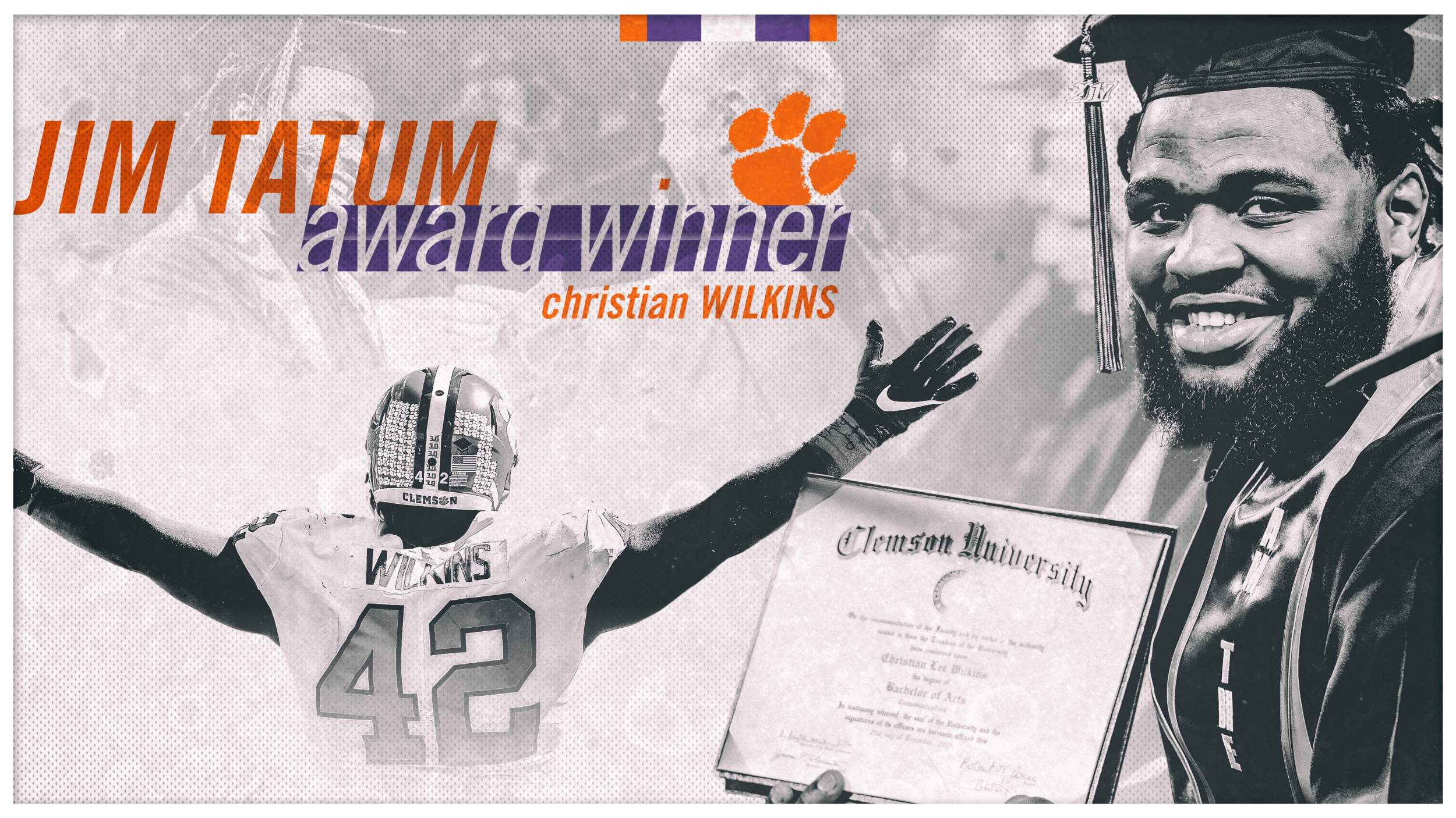Wilkins Earns 2018 Jim Tatum Award