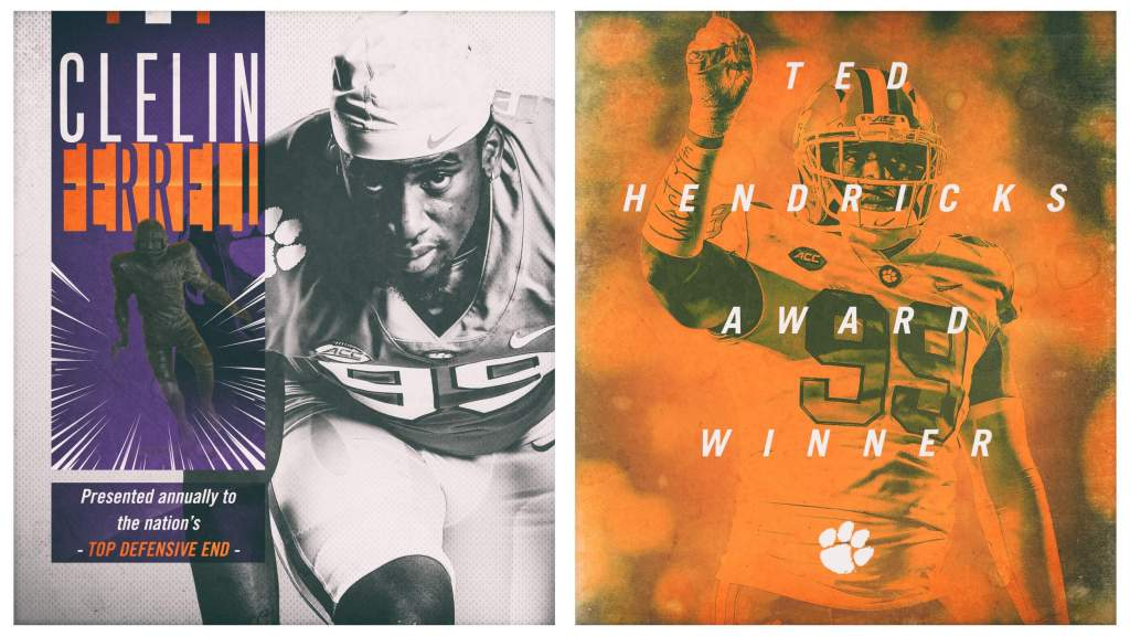 Clelin Ferrell Wins Ted Hendricks Award