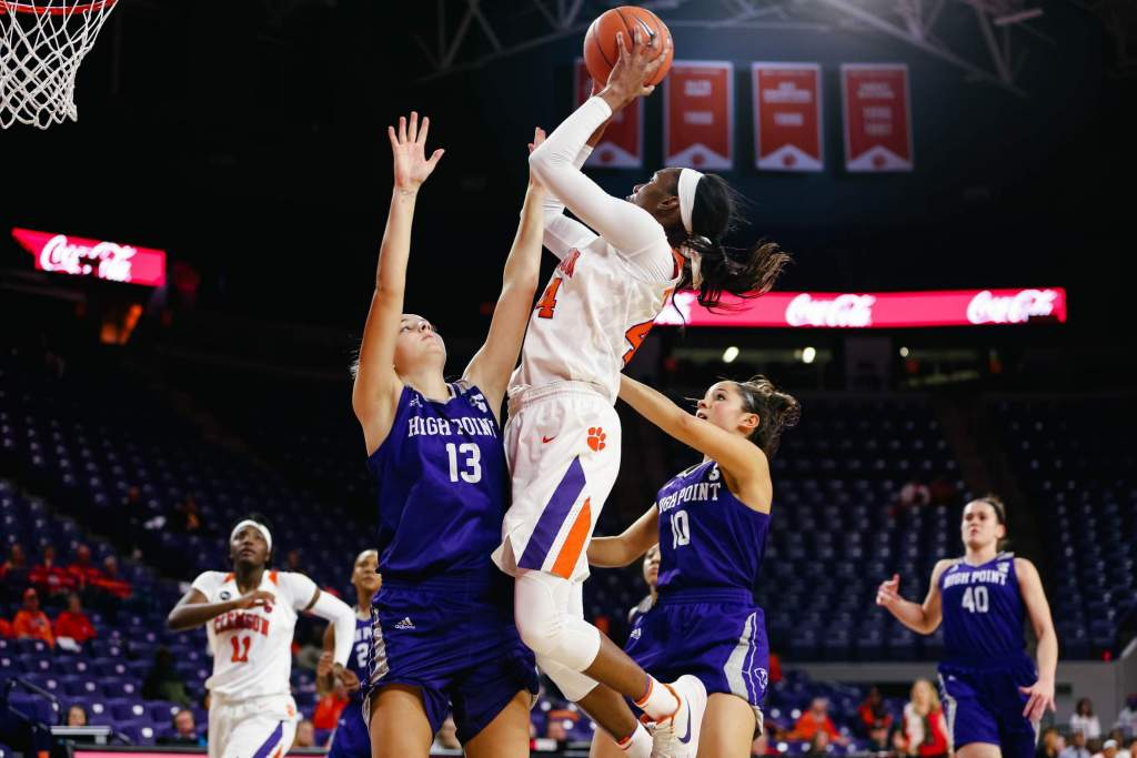 Five Tigers Reach Double-Figures as Clemson Topples High Point