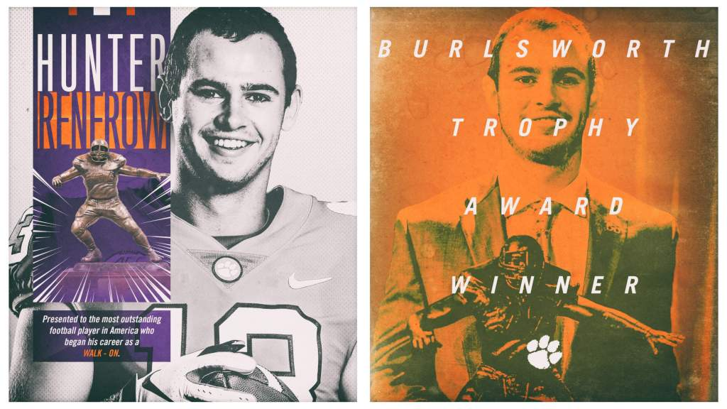 Hunter Renfrow Wins 2018 Burlsworth Trophy