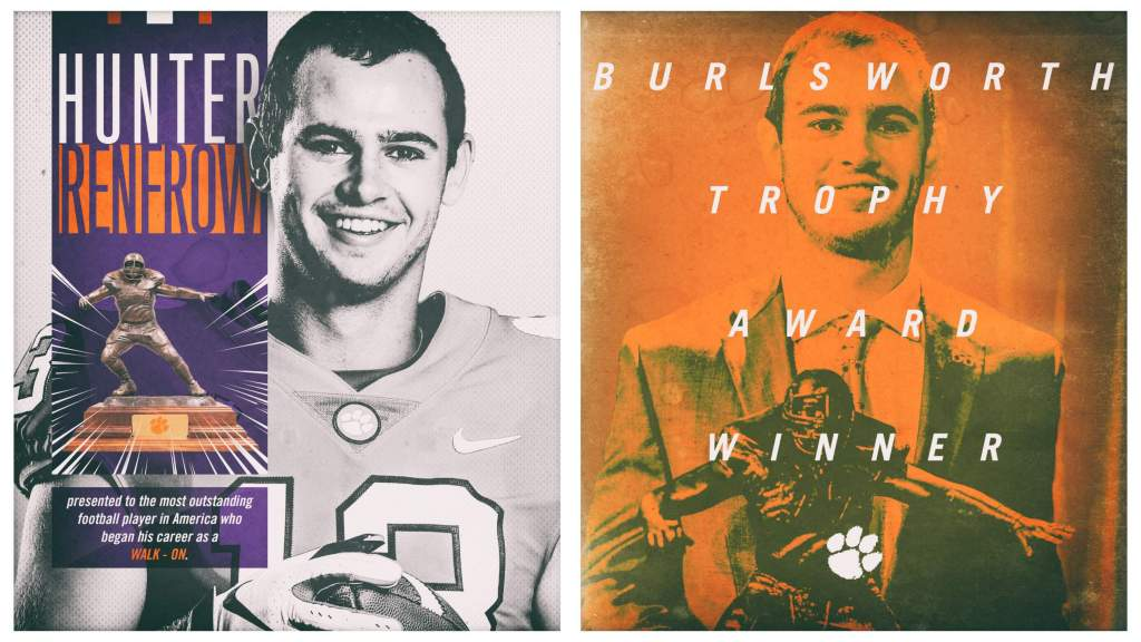 Hunter Renfrow Wins the 2018 Burlsworth Trophy