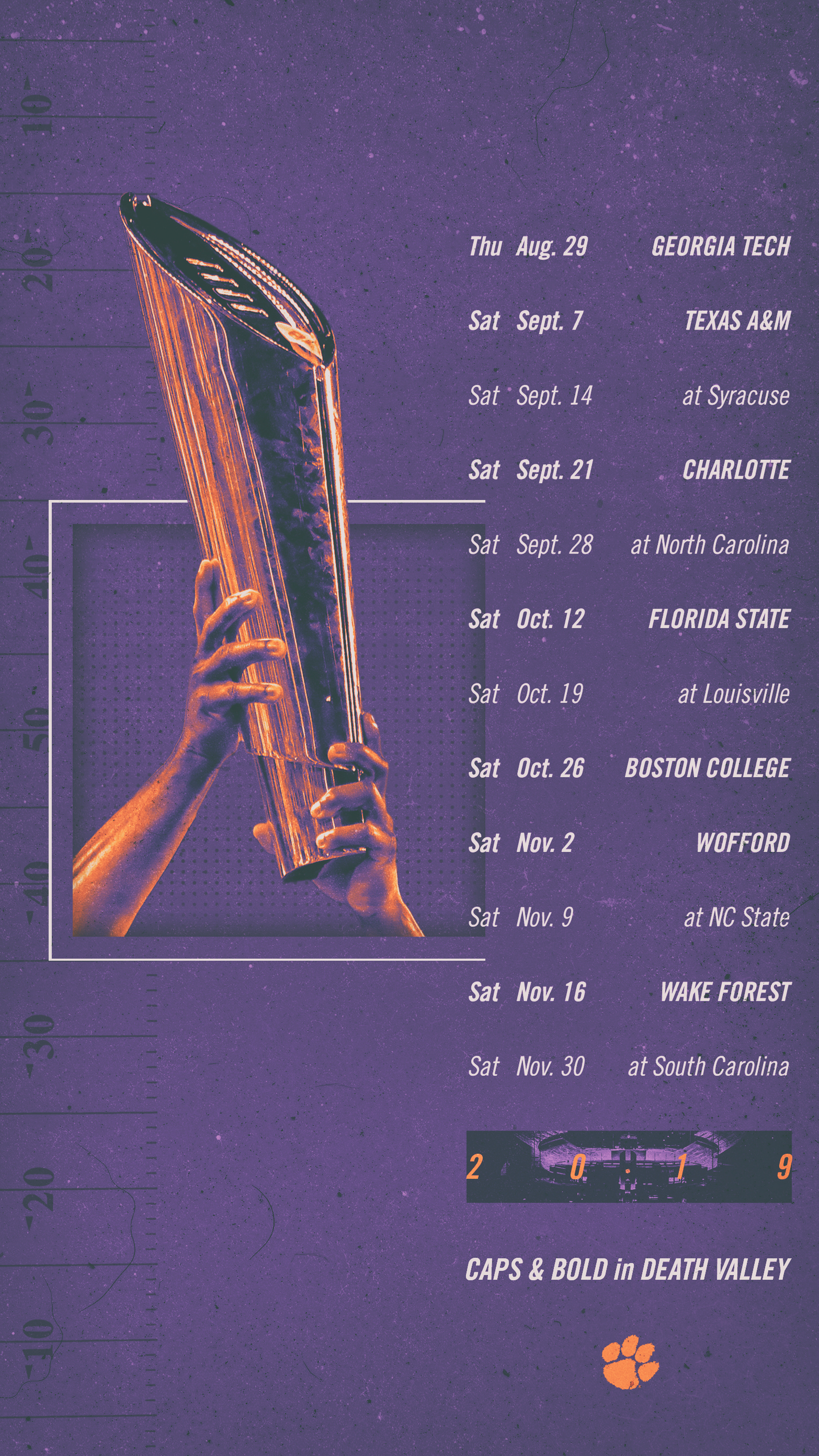 Clemson Calendar 2020 Clemson Announces 2019 Football Schedule – Clemson Tigers Official