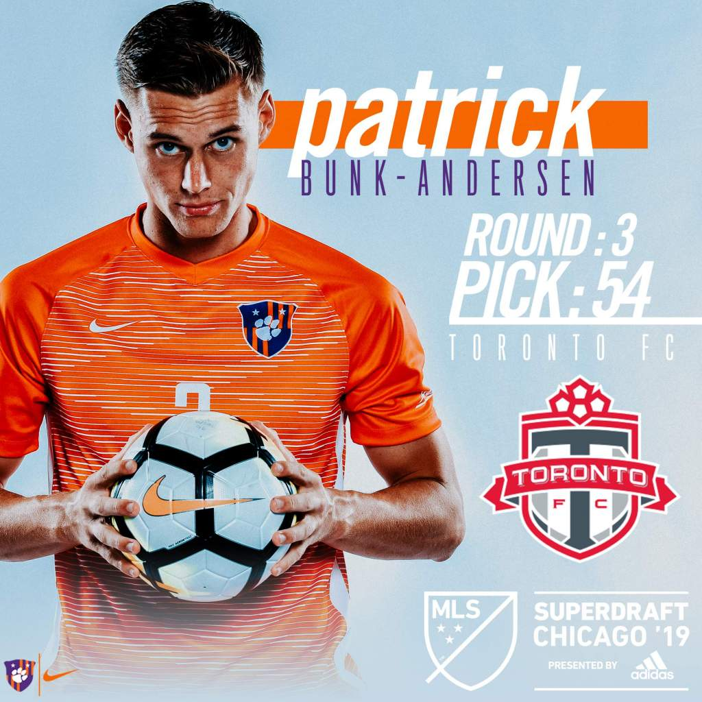 Bunk-Andersen Selected in Third Round of 2019 MLS SuperDraft